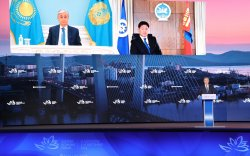 Ерөнхийлөгч У.Хүрэлсүх Дорнын эдийн засгийн чуулга уулзалтад цахимаар оролцож, үг хэллээ