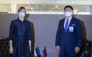 Монгол Улсын Ерөнхийлөгч У.Хүрэлсүх БНЭУ-ын Ерөнхийлөгчтэй уулзав