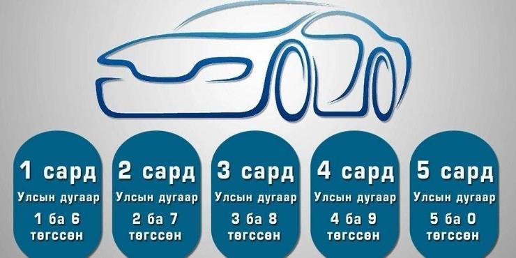 3, 8-аар төгссөн машины дугаартай жолооч нар татвараа төлнө