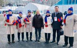 """""""Пёнчан 2018"""": Монголын төрийн далбааг мандуулав"""