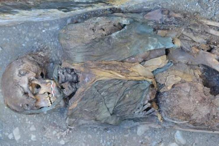 Алтайн нуруунаас эртний занданшуулсан шарил олжээ