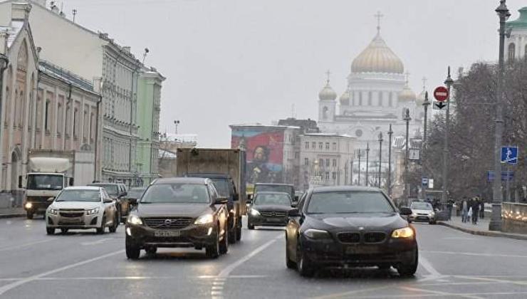 Москва хотын замын хөдөлгөөний урсгал сайжирчээ