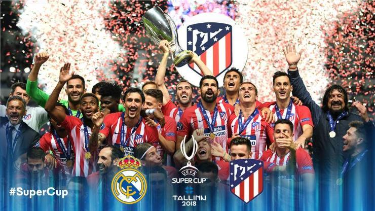 Атлетико Мадрид Европын супер цомыг хүртлээ