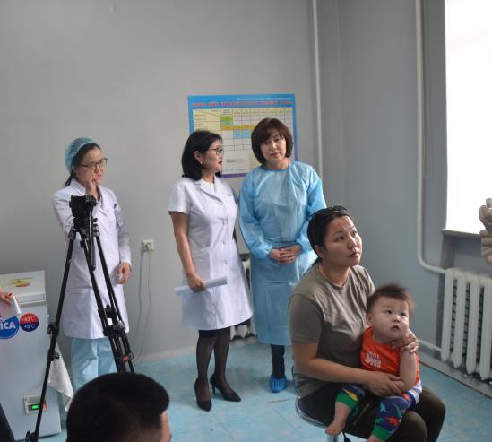 Сүхбаатар дүүрэгт хоёр сартай 150 хүүхэд хатгалгааны эсрэг вакцинд хамрагдана
