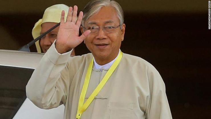 Мьянмарын Ерөнхийлөгч огцорч буйг мэдэгдэв
