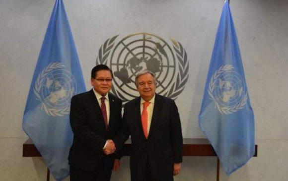 Ө.Энхтүвшин НҮБ-ын ерөнхий нарийн бичгийн дарга А.Гутеррестэй уулзав