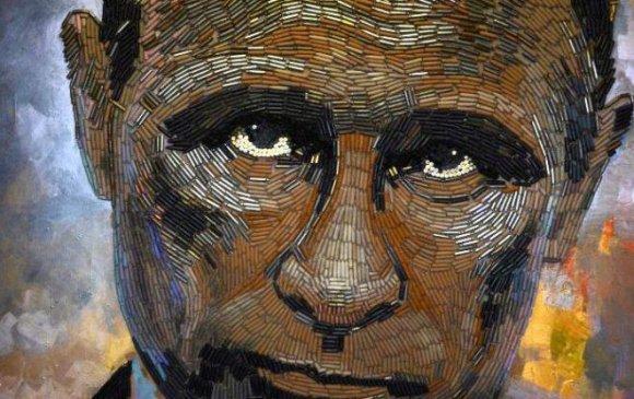 Путины хөргийг сумны хонгиогоор бүтээжээ